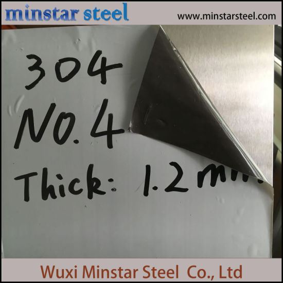 Short Delivery 304 304L Brushed Surface Stainless Steel Sheet 1.20mm Thickness