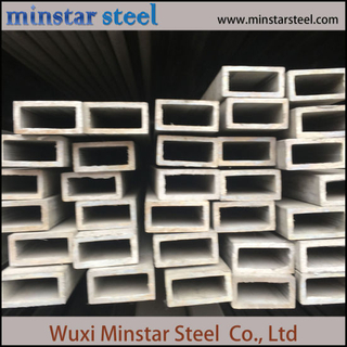 Flat Pipe 304 304L 316 316L Stainless Steel Seamless Rectangular Pipe